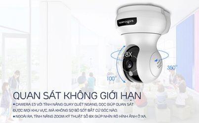 Camera Ebitcam E3 - Dòng IP wifi thông minh lắp đặt trong nhà