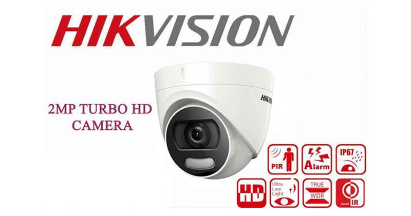 Camera HDTVI Colorful 2MP HIKVISION DS-2CE12DFT-F