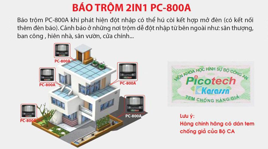 Báo trộm hồng ngoại PICOTECH PC-800A giá rẻ