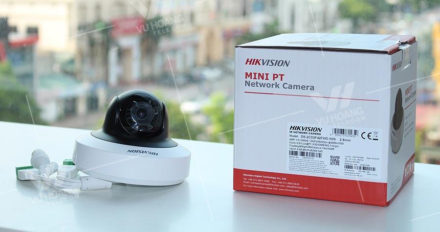 Camera HIKVISION DS-2CD2F42FWD-IWS thiết kế nhỏ gọn, thẩm mỹ