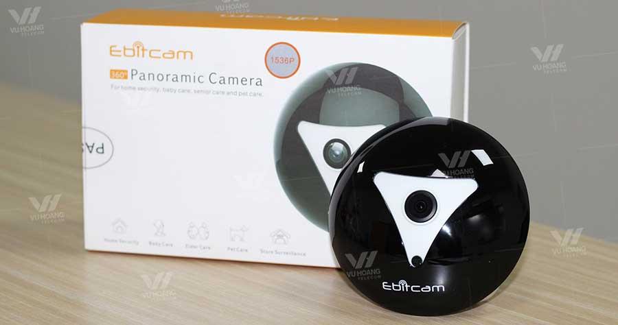 Camera IP Wifi Fisheye EBITCAM EBF2 3MP thực tế