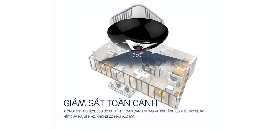Camera EBITCAM EBF2 dễ dàng giám sát 360 độ