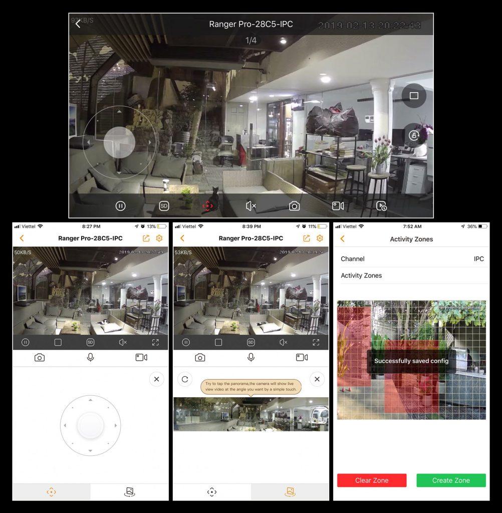 Đánh giá giao diện App camera Ranger Pro