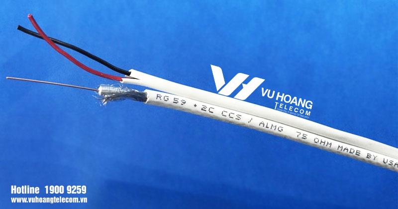 Cáp đồng trục có tích hợp dây nguồn SINO RG59 + 2C - có nguồn