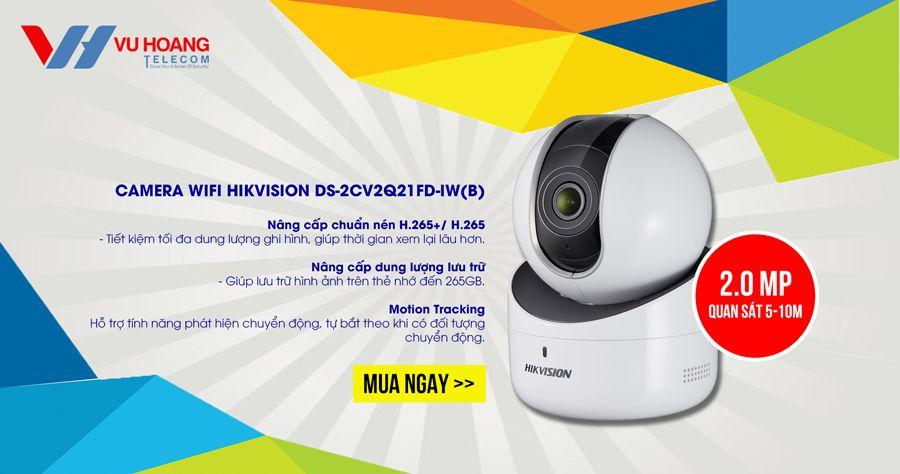 Camera IP Robot 2MP HIKVISION DS-2CV2Q21FD-IW(B)
