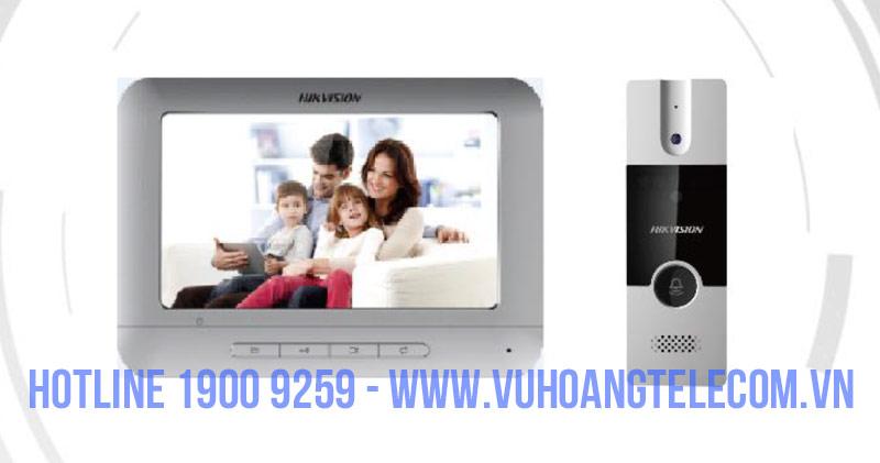 Chuông cửa màn hình Analog HIKVISION DS-KIS204chất lượng
