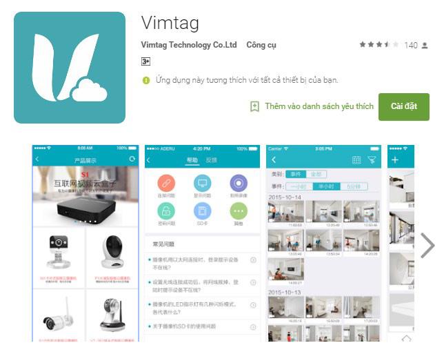 Tải phần mềm Vimtag về điện thoại