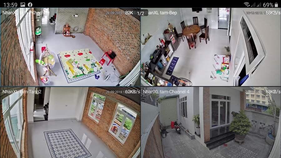 Trọn bộ 4 camera Looc C26HP lắp đặt cho gia đình