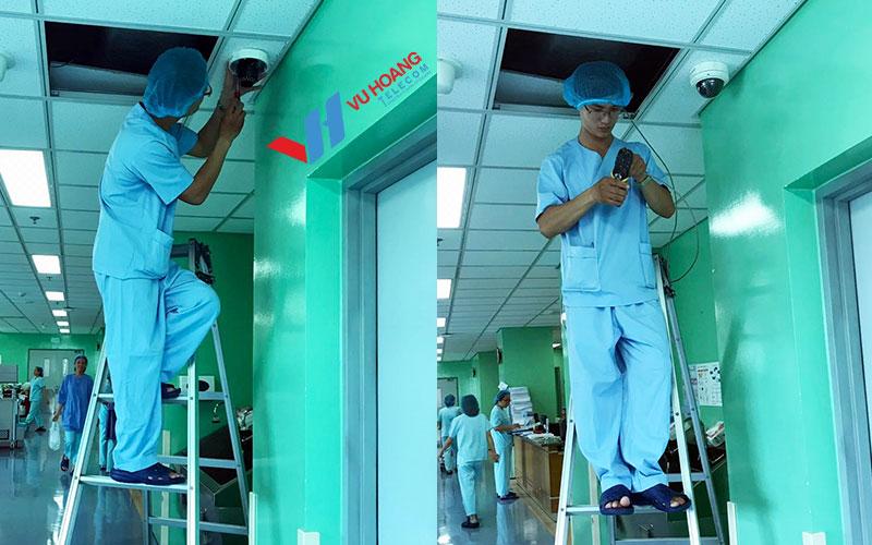 Kỹ thuật lắp đặt camera với các vật dụng bảo hộ chuyên dụng trong môi trường bệnh viện