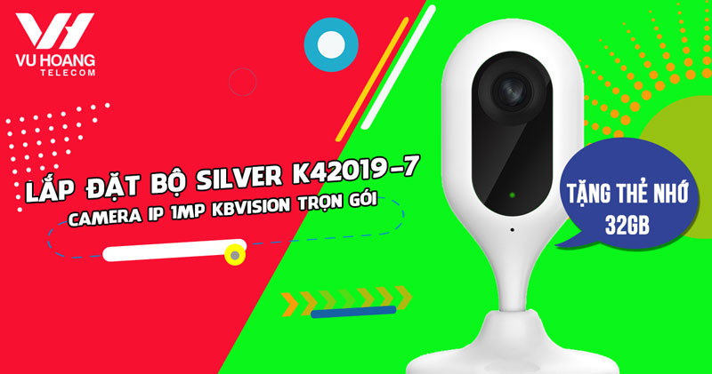 Lắp đặt camera Wifi Cube KBVISION KBI-H10WN giá rẻ