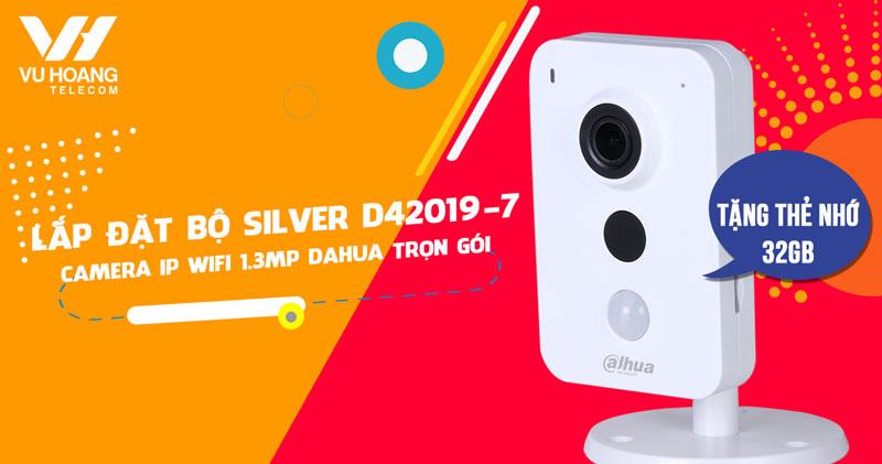 Lắp camera Wifi 1.3MP DAHUA DHI-K15P trọn gói (SILVER D42019-7)