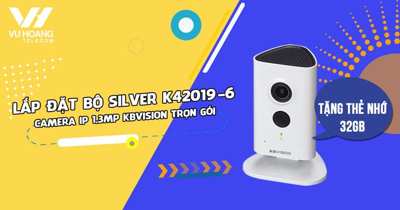 Lắp trọn bộ camera IP KBVISION KBI-H13WN giá rẻ (SILVER K42019-6)