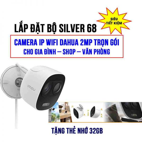 Bộ camera Wifi DAHUA DHI-C26EP trọn gói SILVER 68