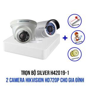 Lắp đặt bộ 2 camera HIKVISION HD720P gói SILVER H42019-1 giá rẻ