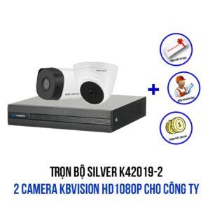 Lắp đặt bộ 2 camera KBVISION HD1080P cho công ty gói SILVER K42019-2
