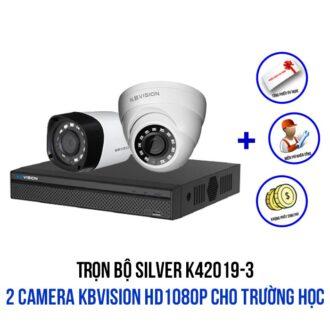 Lắp trọn bộ 2 camera KBVISION HD1080P gói SILVER K42019-3 giá rẻ