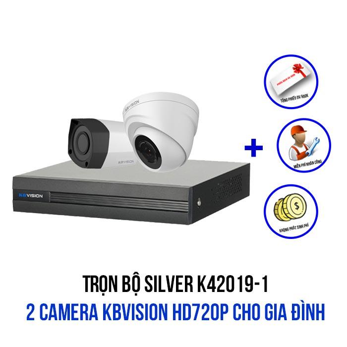 Lắp đặt bộ 2 camera KBVISION HD720P cho gia đình gói SILVER K42019-1
