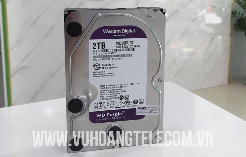 Ổ cứng gắn trong WD PURPLE 2TB WD20PURZ