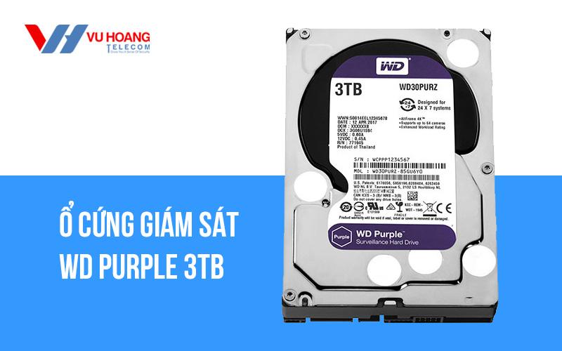 Ổ cứng giám sát WD Purple 3TB WD30PURZ giá rẻ