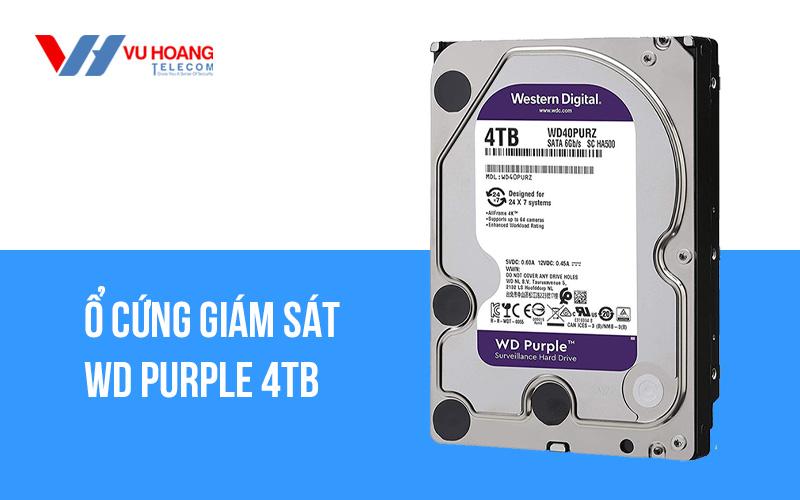 Ổ cứng giám sát WD Purple 4TB WD40PURZ giá rẻ