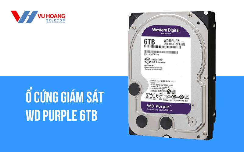 Bán Ổ cứng giám sát WD Purple 6TB WD62PURZ giá rẻ
