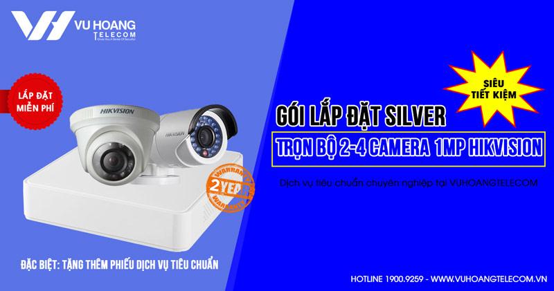 Trọn bộ 2 camera Hikvision HD720P gói SILVER H42019-1