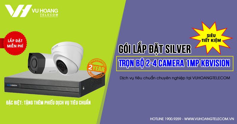 Lắp đặt bộ 2 camera KBVISION HD720P cho gia đình (SILVER K42019-1)