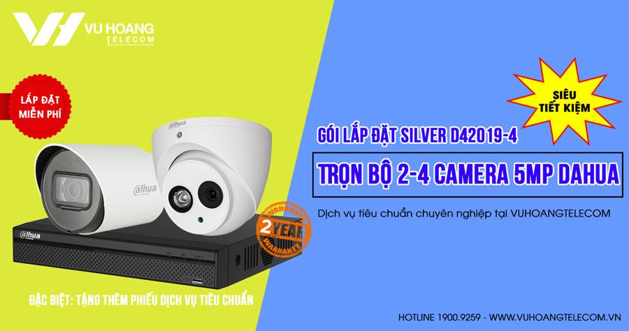 Lắp đặt trọn bộ camera DAHUA 5MP SILVER D42019-4 tích hợp mic