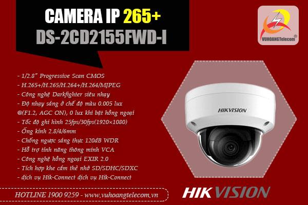 camera IP Hikvision DS-2CD2155FWD-I