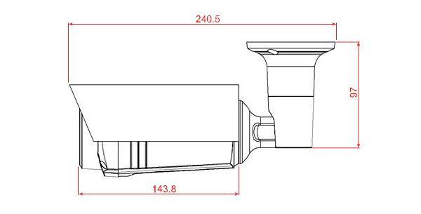 Thông số kích thước camera DGM1306P 3