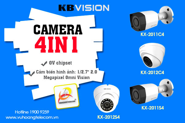 Camera 4in1 Kbvision mới