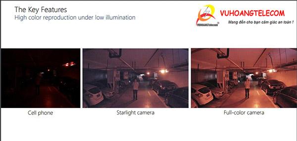 Dahua test camera Full-color trong môi trường tối hoàn toàn