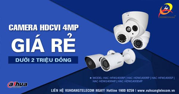 Camera HDCVI 4MP Dahua