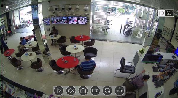 Hình ảnh demo từ camera Vantech IP H.265