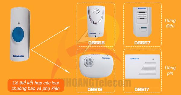 Chuông cửa không dây Kawasan DB668 - 2