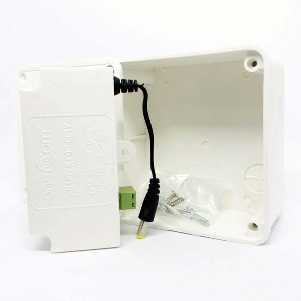 hộp box liền nguồn camera Onecam VP2AB