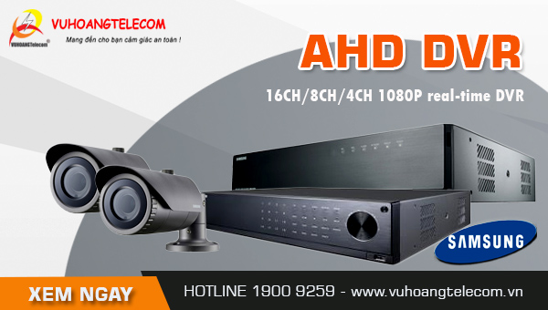 đầu ghi hình AHD Samsung giá rẻ