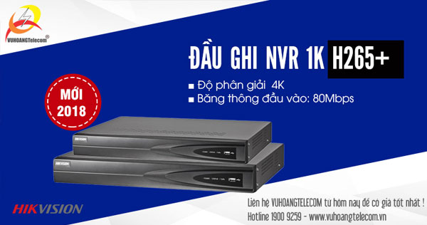 Đầu ghi hình NVR 1K Hikvision giá rẻ