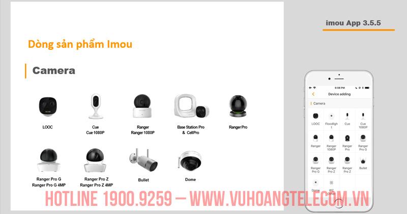 Dòng sản phẩm camera Imou