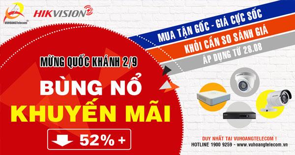 khuyến mãi camera Hikvision Plus bán chạy
