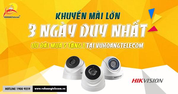 Khuyến mãi camera Hikvision