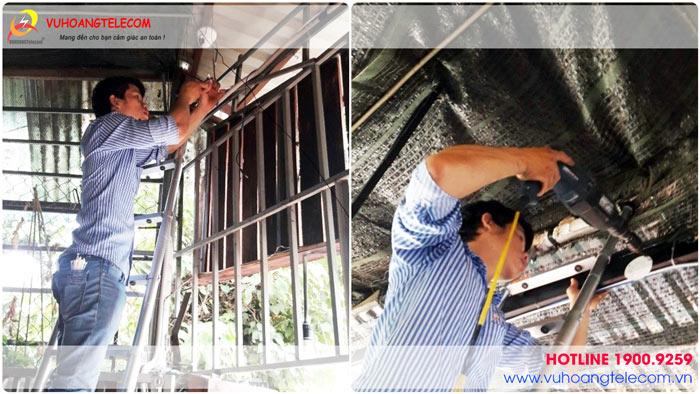 Công trình lắp đặt camera quan sát cho quán cafe tại quận Bình Thạnh