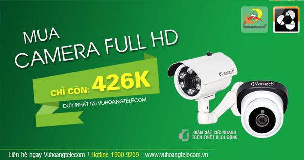 mua camera Full HD Vantech