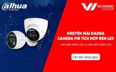 Khuyến mãi camera HDCVI PIR Dahua tích hợp Led