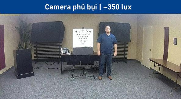 camera IP bán cầu bị bẩn  -14