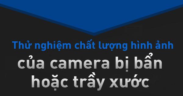camera IP bán cầu bị bẩn