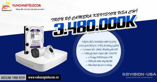 lắp đặt camera Kbvision Full HD