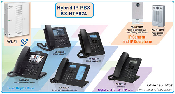 tổng đài IP KXHTS824