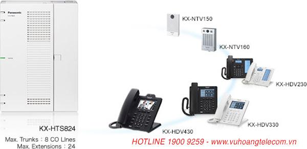 tổng đài IP KXHTS824 -2