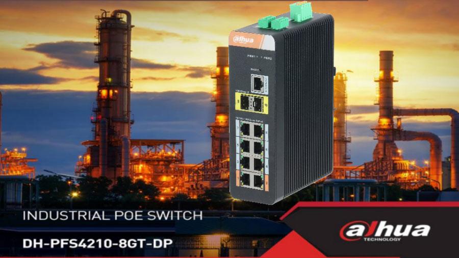 Switch PoE 8 kênh DAHUA DH-PFS4210-8GT-DP
